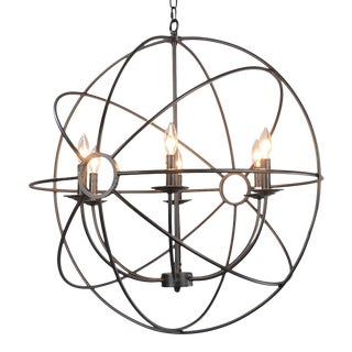 Iron Orb Chandelier Small For Sale