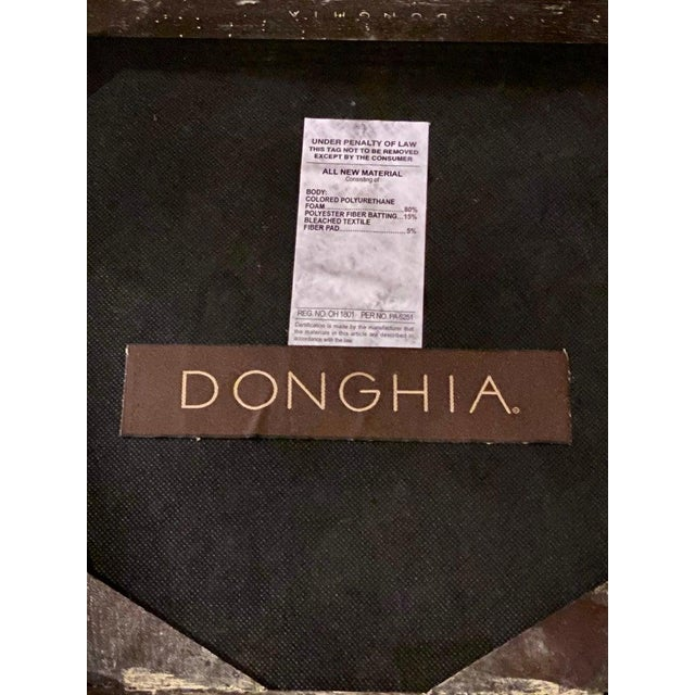 Set Ten Donghia 'Margarita' Design Dining Chairs Pickled Oak, Labeled Donghia For Sale - Image 10 of 12