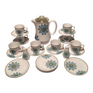 "1970s Noritake Progression ""Daisy"" Coffee Set - Set of 16 For Sale"