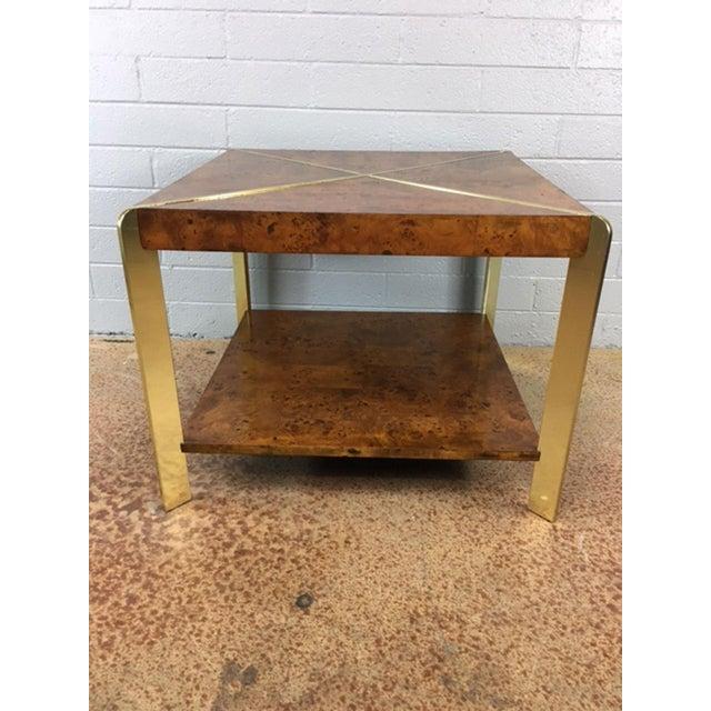 Milo Baughman Burlwood Side Table - Image 3 of 8