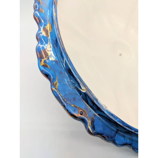 Ceramic 20th Century Contemprary Blue and Gold Ceramic Soup Tureen For Sale - Image 7 of 9