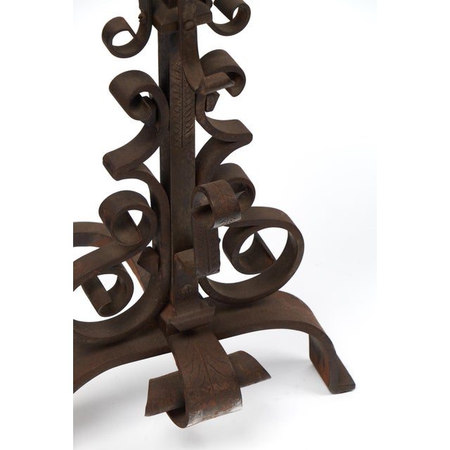 Black Vintage French Andirons - a Pair For Sale - Image 8 of 10