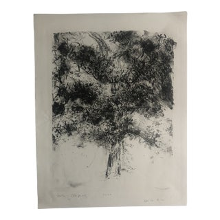 Abstract Tree Lithograph by Dellas Henke, 1978 For Sale
