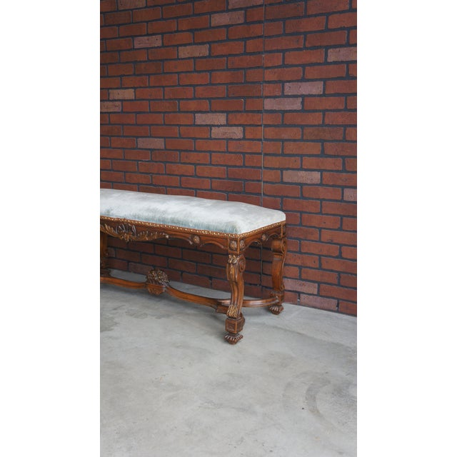 English Traditional Antique French Provincial Bench For Sale - Image 3 of 9