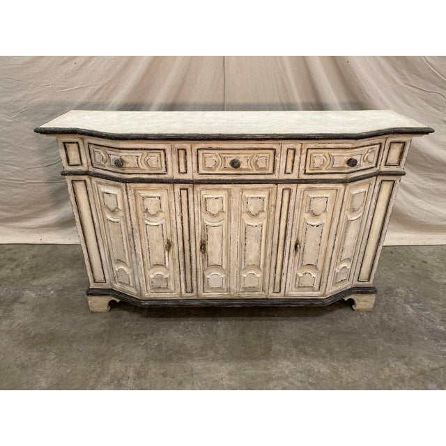 Italian Painted Credenza Buffet - Early 20th C For Sale - Image 9 of 12