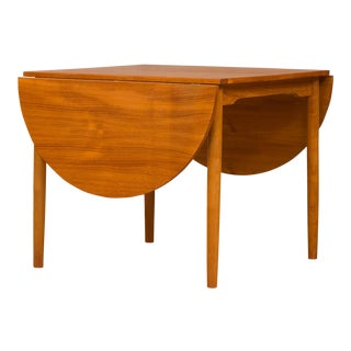 Mid-Century Modern Danish Drop Leaf Teak Table For Sale