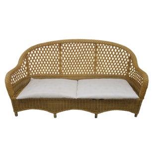 1970s Vintage Rattan Sofa For Sale