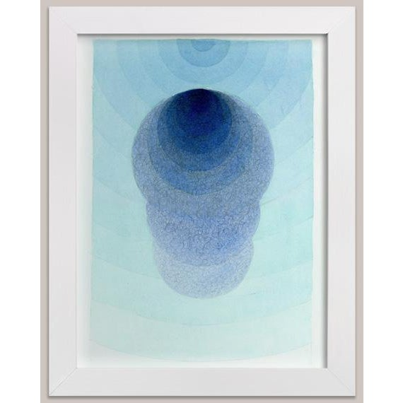 """Kathleen Ney Scribble Series """"Surfacing"""" Watercolor Painting For Sale - Image 4 of 5"""