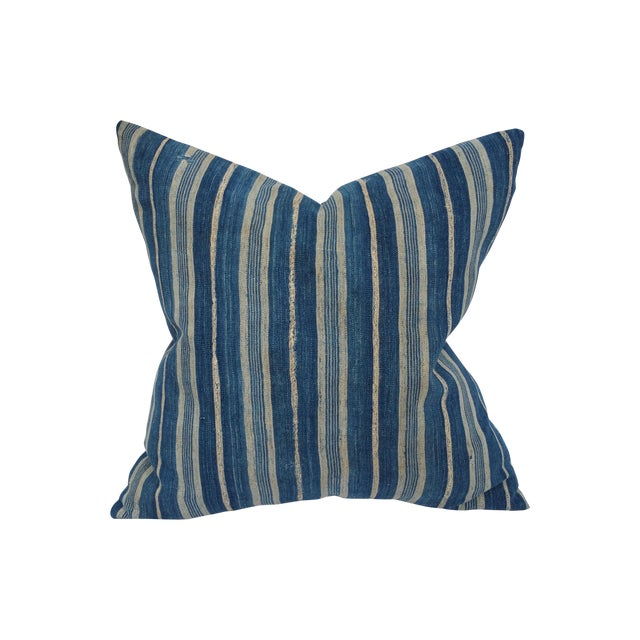 Mali Striped Tribal Pillow - Image 1 of 5