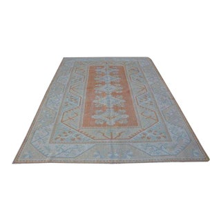 1960s Vintage Faded Turkish Tribal Rug - 6′3″ × 8′11″ For Sale