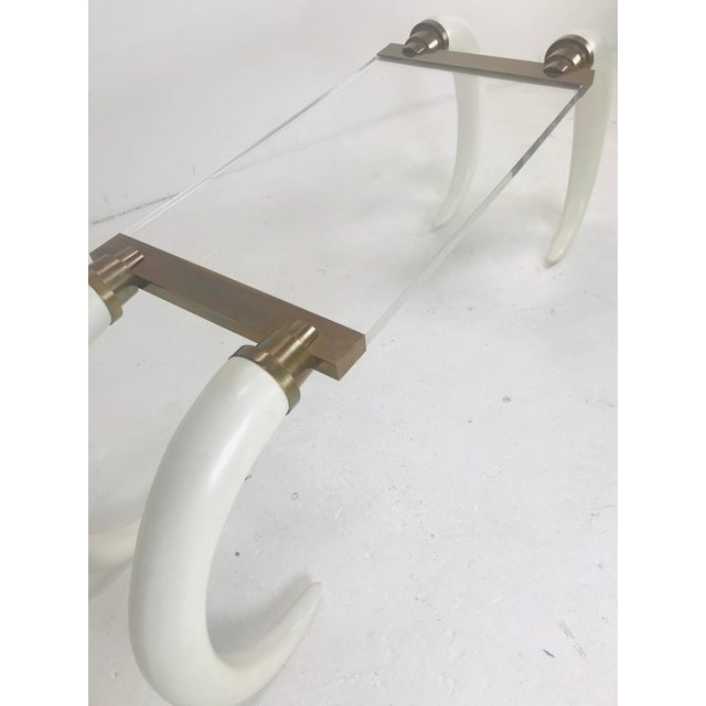 Mid-Century Modern Faux Elephant Tusk Table For Sale - Image 3 of 8