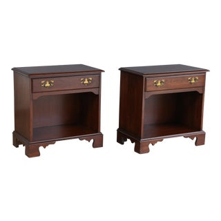 Cherry Federal Style Lamp Tables - a Pair For Sale