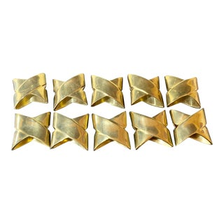 Brass Napkin Rings - Set of 10 For Sale