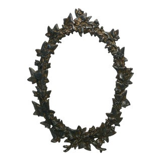 1890 Antique Iron Oval Berries & Leaves Frame For Sale