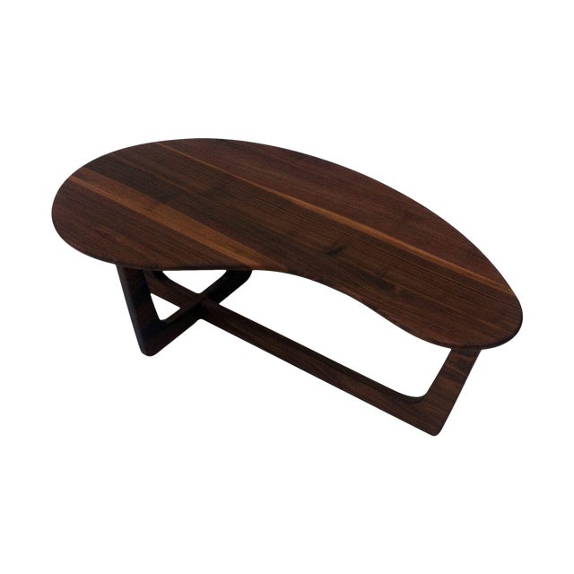Pearsall Style Walnut Kidney Bean Cocktail Table - Image 1 of 6