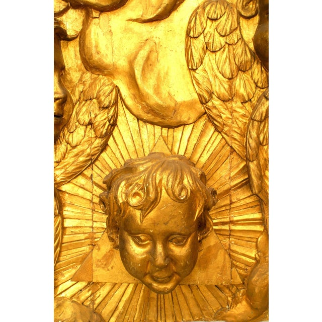 18th-19th Century French Louis XV Style Large Gilt Wall Plaque For Sale In New York - Image 6 of 7