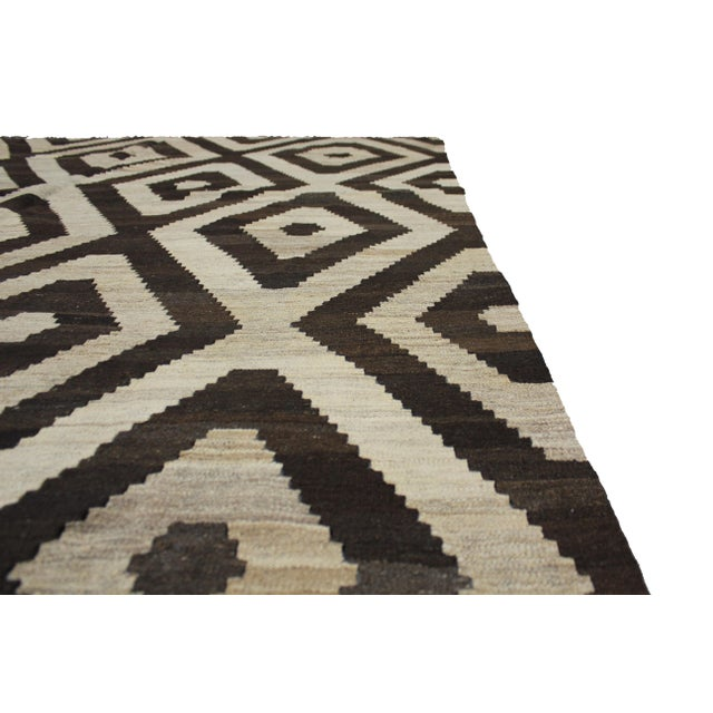 """Aara Rugs Inc. Hand Knotted Modern Kilim - 6'11"""" X 8'3"""" For Sale - Image 5 of 5"""