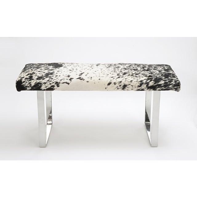 Modern Skinny BeBe Salt & Pepper Bench For Sale - Image 3 of 3