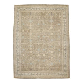 Modern Khotan Style Rug with Pomegranate Design and Transitional Style