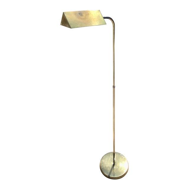 Mid Century Modern Adjustable Height, Vintage Brass Pharmacy Lamp