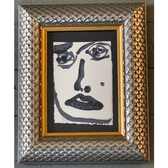 Original Abstract Face Painting by Robert Cooke For Sale - Image 4 of 4