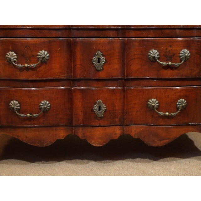 Louis XV Walnut Commode For Sale - Image 4 of 9