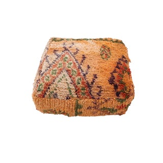 Vintage Moroccan Pillow Pouf Cover For Sale