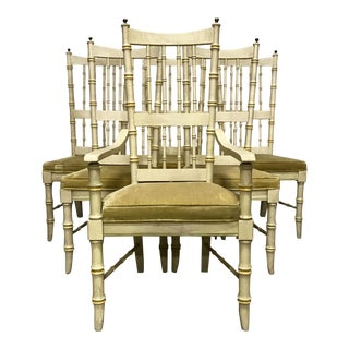 Faux Bamboo Dining Chairs by Stanley Furniture - Set of 6