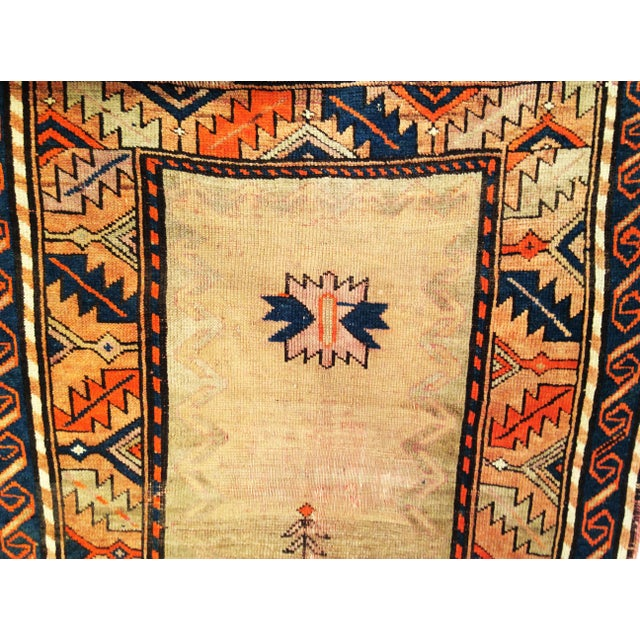 Early 20th Century Kurdish Camelhair Prayer Rug - 3′6″ × 5′4″ For Sale In Chicago - Image 6 of 8