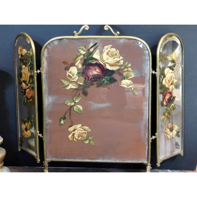 Metal Antique Decorative Fireplace Screen For Sale - Image 7 of 10