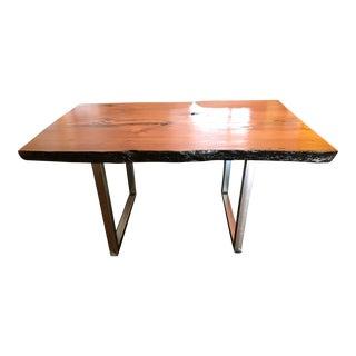 Custom Made Live Edge Redwood Table