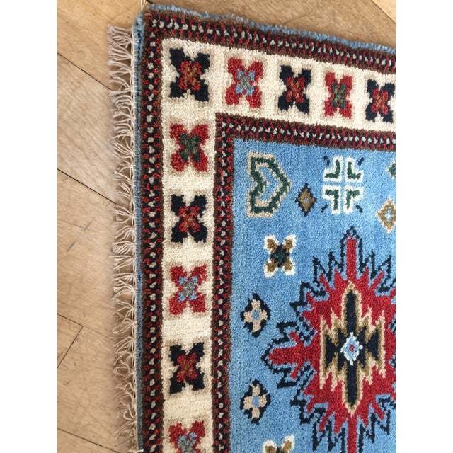 Cotton Modern Indo-Heriz Runner For Sale - Image 7 of 13