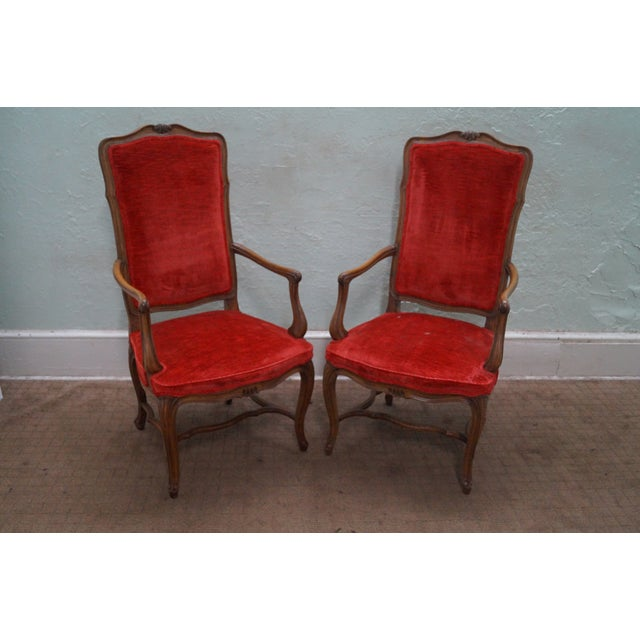 Karges Vintage French High Back Dining Chairs - 8 - Image 5 of 10