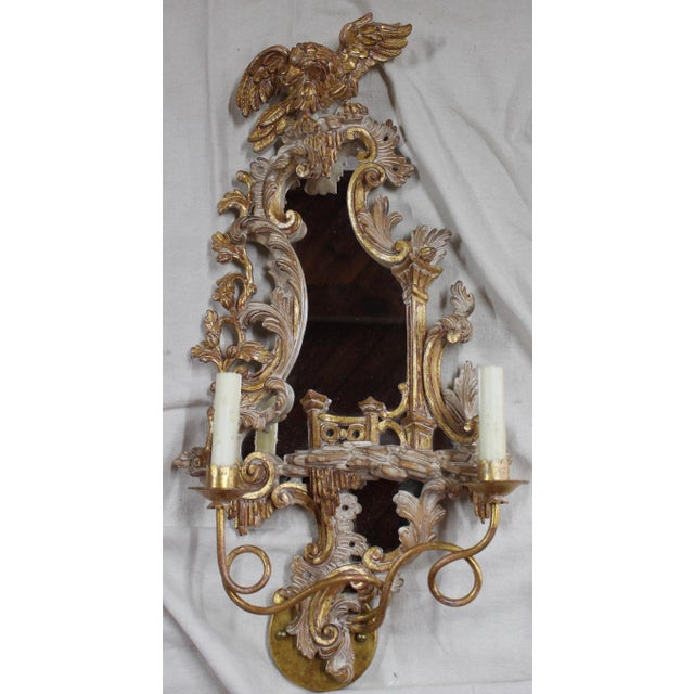 20th Century Rococo Gold Sconces- a Pair For Sale In Milwaukee - Image 6 of 12