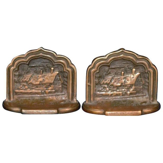 Metal Stratford on Avon Bookends For Sale - Image 7 of 7