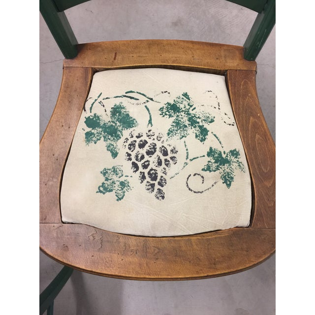 Antique Kitchen Table With Hand Painted Chairs - Set of 5 - Image 7 of 10