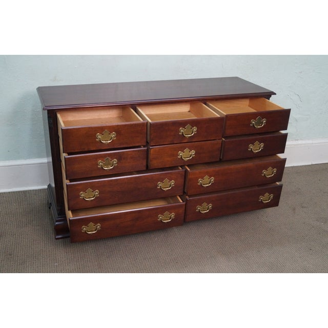 Statton Old Towne Cherry Chippendale Chest Dresser - Image 8 of 10