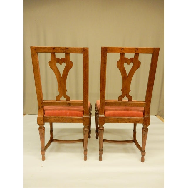 Eight 19th C Walnut Louis XVI Dining Chairs For Sale - Image 4 of 9
