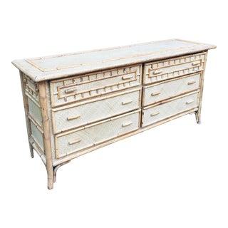 Vintage Mid Century Modern Calif-Asian Sideboard Dresser For Sale