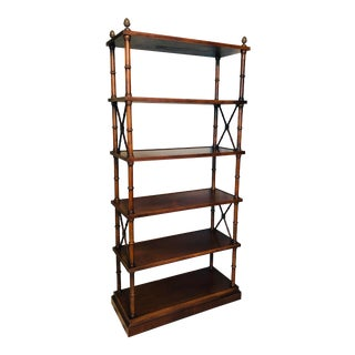 Brandt Hollywood Regency Faux Bamboo Etagere For Sale