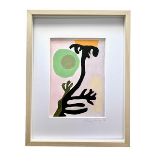 Neicy Frey Abstraction #6 Framed Original Abstract Painting For Sale
