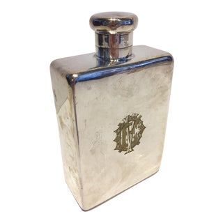 Large Silver Flask For Sale