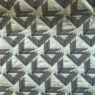 Miles Redd for Schumacher V Step in Loden Fabric- 2 Yards For Sale