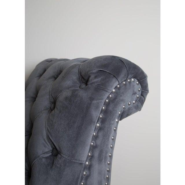 Restoration Hardware Tufted Velvet Slipper Chair - Image 3 of 4