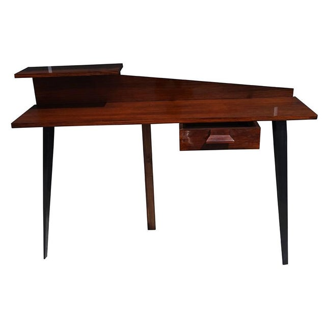 Danish Modern Mid-Century Modern Italian Rosewood Wall Desk For Sale - Image 3 of 5