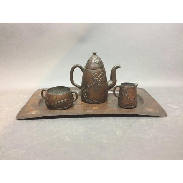 1910 Swedish Arts & Crafts Copper Tea/Coffee Set, Harold Linder For Sale - Image 10 of 10