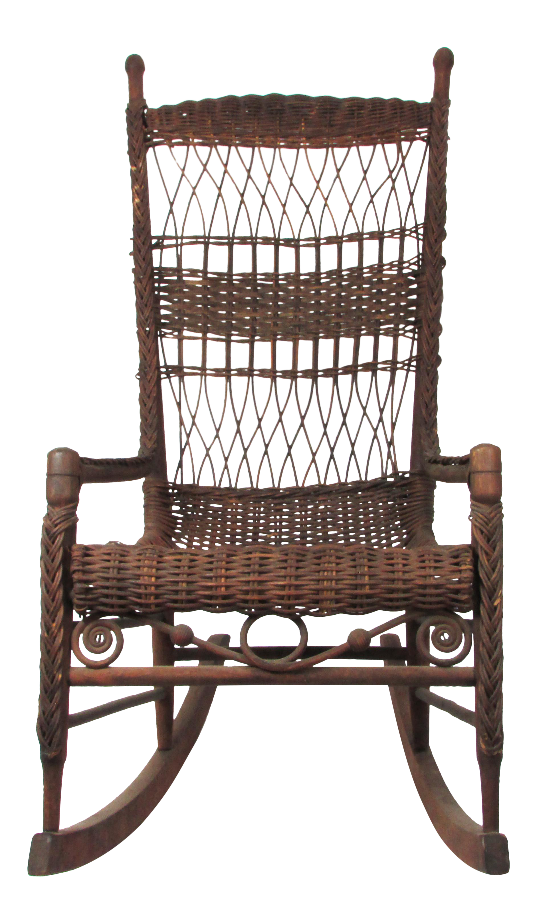 Antique Wicker Rocking Chair Porch Rocker