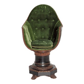A Nineteenth Century Venetian Child's Gondola Chair For Sale