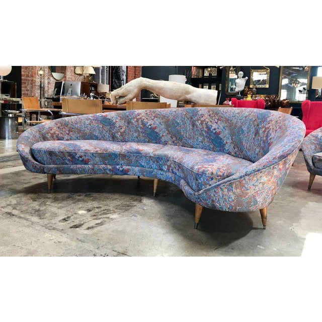 1958 Federico Munari Mid-Century Italian Curved Lounge Chairs For Sale In Los Angeles - Image 6 of 7