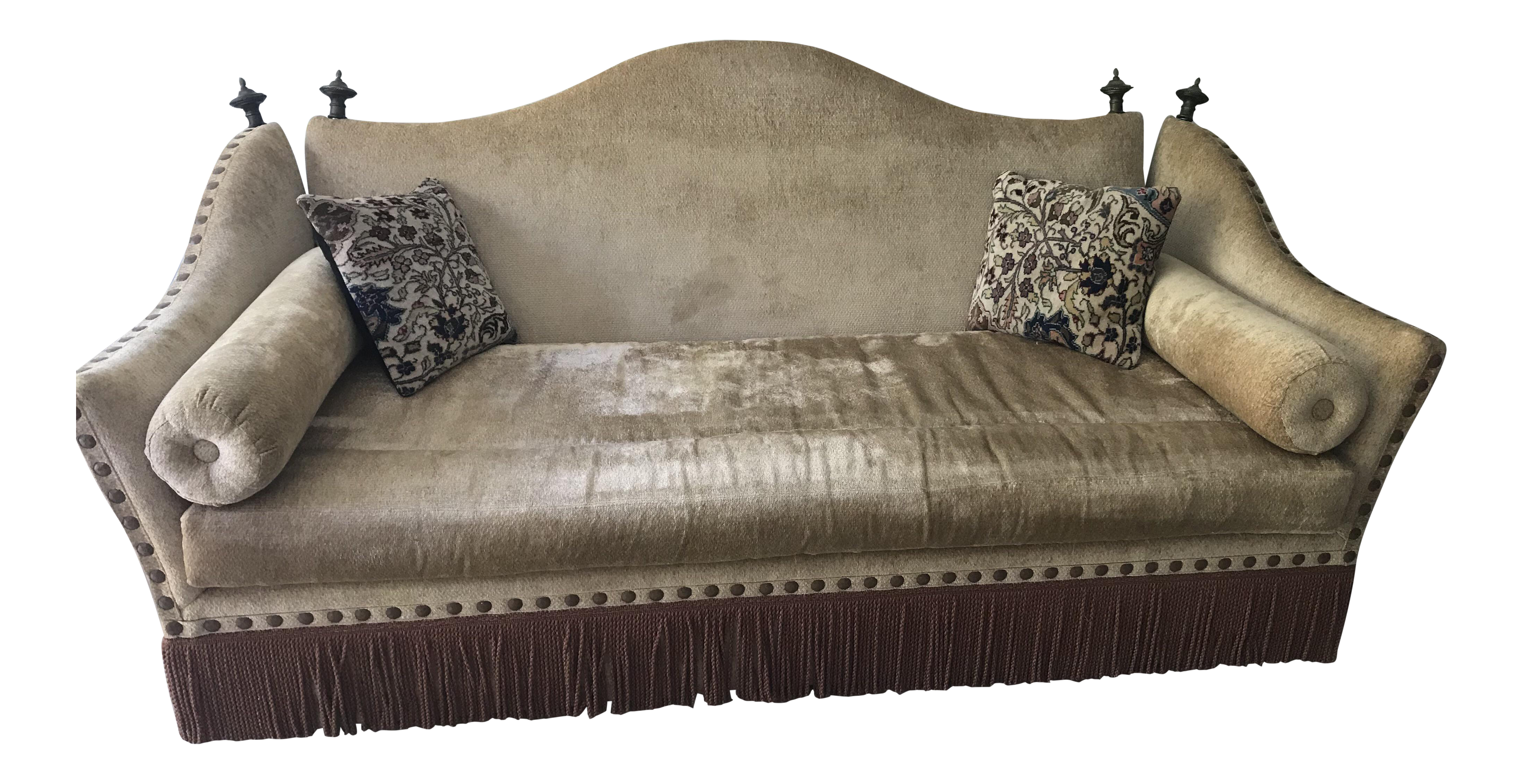 1960s Art Deco Moroccan Style Knole Tasseled Sofa